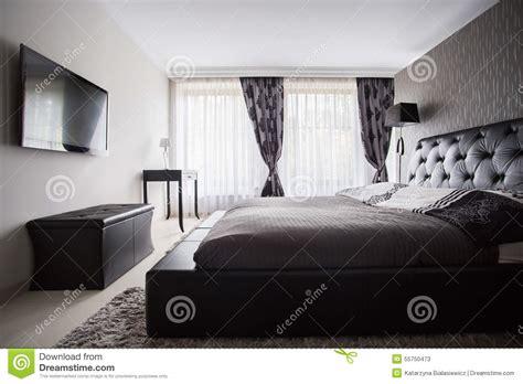 couleur de la chambre à coucher chambre à coucher de luxe dans la couleur grise photo
