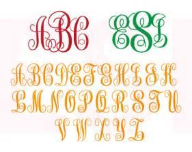 SVG Monogram Fonts for Cricut