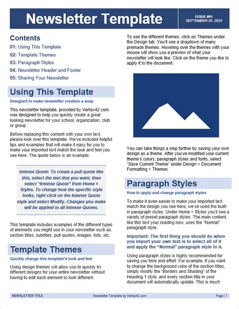 newsletter template free newsletter templates for word