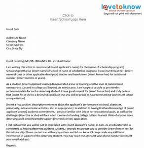 recommendation letter for student from teacher template - sample scholarship recommendation letter lovetoknow