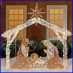 12 days of christmas metal yard art lighted nativity outdoor 250 acrylic lights yard indoor new decor