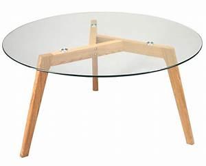Table Alinea Bois : plateau en verre pas cher ~ Teatrodelosmanantiales.com Idées de Décoration