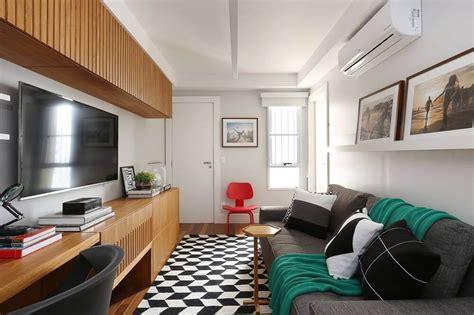 sala de tv sofá preto sof 225 cinza 70 modelos de decora 231 227 o para inspirar voc 234