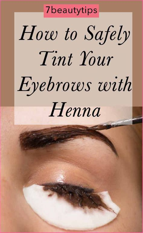 safely tint  eyebrows  henna eyebrow