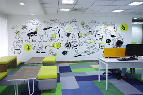 Wall Mural Ideas Office by Freecharge Office Bangalore Wall Mural идеи дизайна