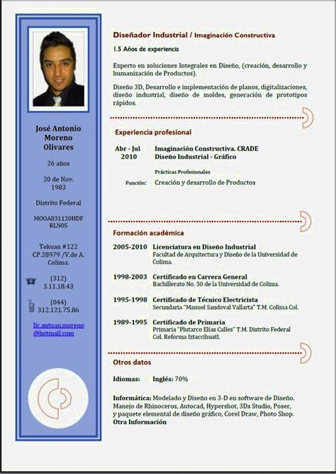 curicculum vitae ejemplos de cv exitosos resume template cover letter