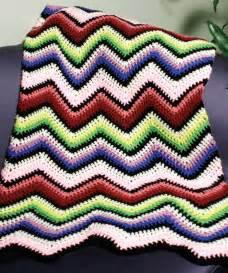 Crochet Rainbow Ripple Afghan Pattern