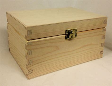 Pine Wood Storage Box  Extra Large