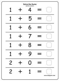 simple addition class  worksheets downloadable