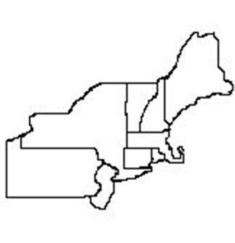 blank northeast region outline map northeast region map