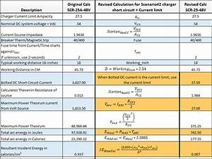 chargers contribution to a dc arc flash With arc flash table