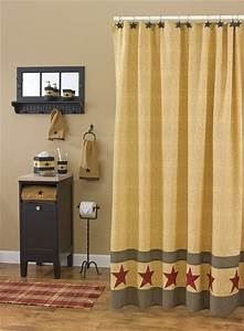 Country Star Shower Curtain 72quot X 72quot Park Designs