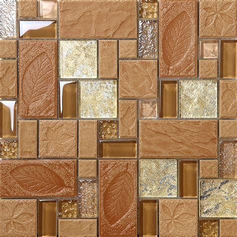 brown porcelain floor tiles yellow crystal glass tile