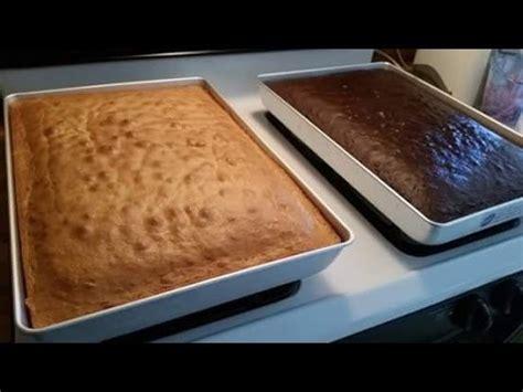 cake mix boxes       sheet cake