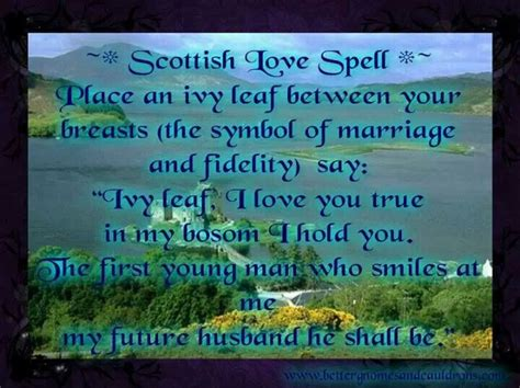 Scottish love spell  Solitary Witch  Pinterest Magick