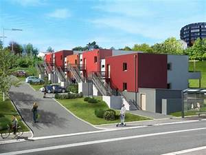 10 appartements thpe poses sur un terrain en pente With maison terrain en pente 1 habitat performance construction maisons ossature bois