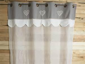 Rideau Gris Et Blanc Coeur by Rideau Voilage Blanc Et Cantonni 232 Re Grise Sud Etoffe
