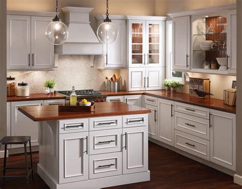 Kitchen In Maple In Dove White  Kraftmaid