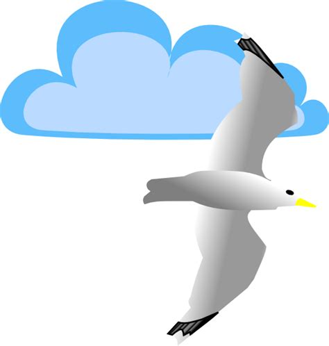 Seagull Clipart Seagull And Cloud Clip At Clker Vector Clip