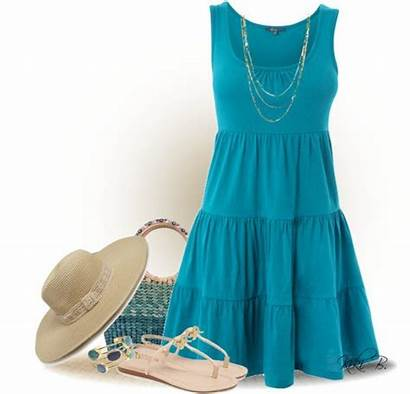 Summer Casual Outfit Polyvore Dresses Styles Outfits