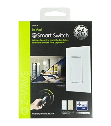 ge z wave plus wireless smart lighting in wall on off