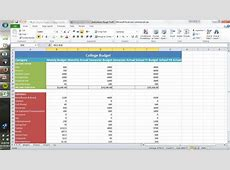 How to Create a CollegeStyle Budget Using Excel 3