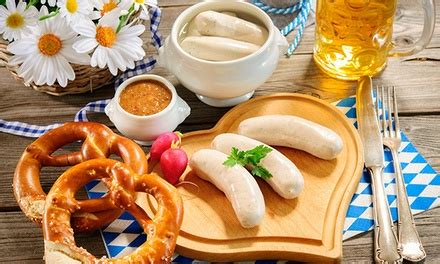 weisswurst fruehstueck mit getraenk flamms restaurant groupon