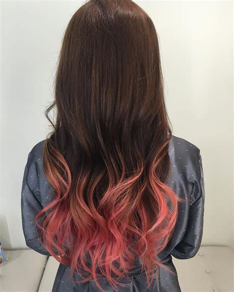 Pinkpeach Ombre Hair H A I R In 2019 Ombre Hair Dyed