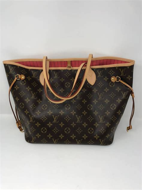 louis vuitton neverfull mm limited edition  pink brown  stdibs