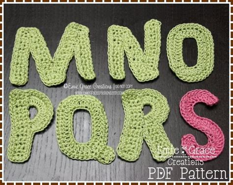 monogram crochet pattern full alphabet  emiegracecreations