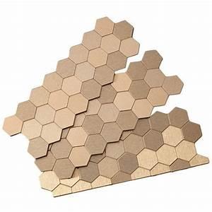 "Aspect 12"" x 4"" Matted Honeycomb Metal Peel & Stick ..."