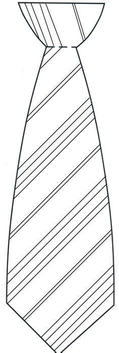 printable fathers day tie coloring page color cut