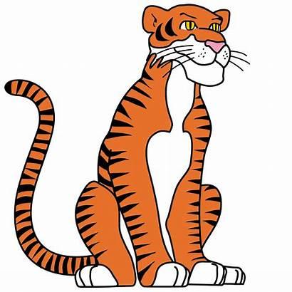 Tiger Clip Face Clipart Cartoon Animal Animals
