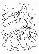 Pages Christmas Coloring Sheets Printable Tree Cool 1coloring Rabbit Winter Hands sketch template