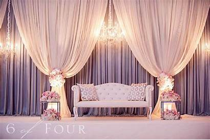 Stage Reception Decor Drapes Hanging Transform Stunning