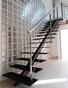 Escalier Droit Bois : 1000 images about descente escalier on pinterest cable ~ Premium-room.com Idées de Décoration