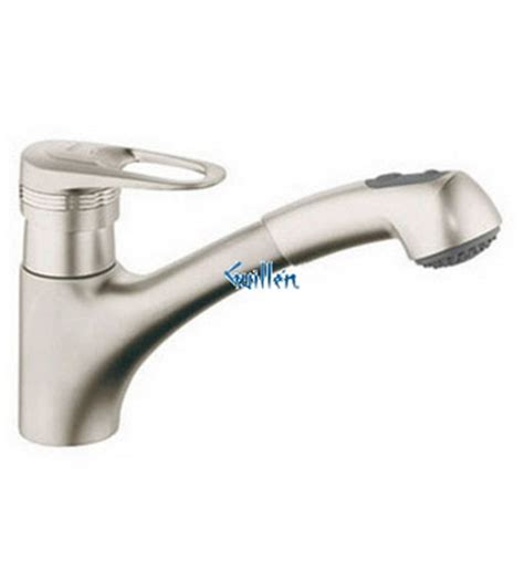 grohe kitchen faucet replacement parts grohe 33939av0 europlus ii low profile pull out dual spray kitchen faucet in satin nickel