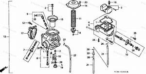 Honda Atv 1994 Oem Parts Diagram For Carburetor