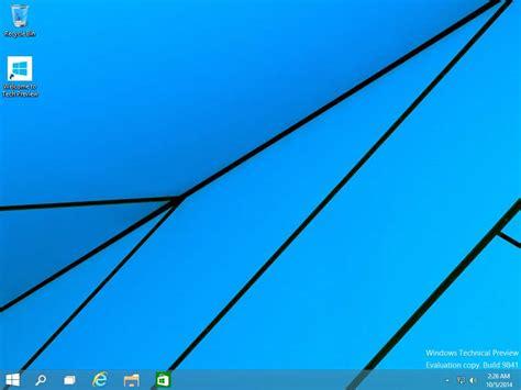 bureau windows 8 disparu windows 10 technical preview médiaforma
