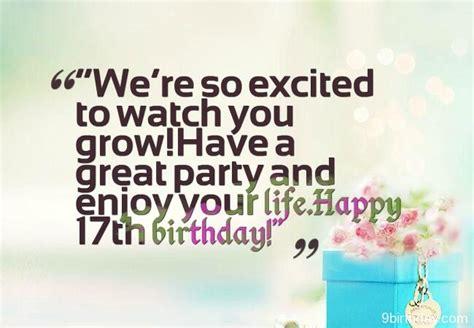 birthday wishes  seventeen year