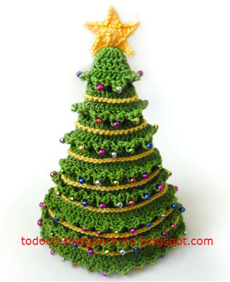 4 arbolitos de navidad para tejer al crochet todo crochet