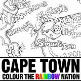 Coloring Cape Town Peninsula Colouring Map Colour Mandela Nelson Nation Rainbow Pearl Designlooter Illustrated Getdrawings Printable Penin Getcolorings 24kb 1000px sketch template