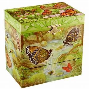 Boite A Bijoux Enfant : boite bijoux musicale pour enfants papillons ~ Teatrodelosmanantiales.com Idées de Décoration
