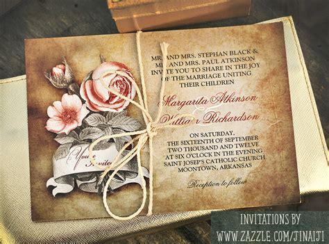 vintage wedding invitations  wedding idea