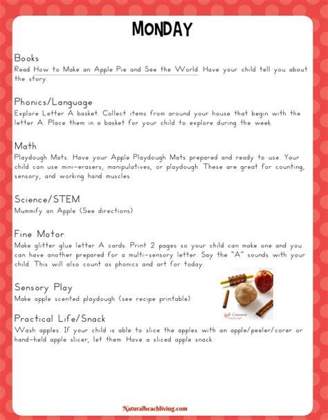 the best kindergarten and preschool apple theme activities 642 | apple unit monday