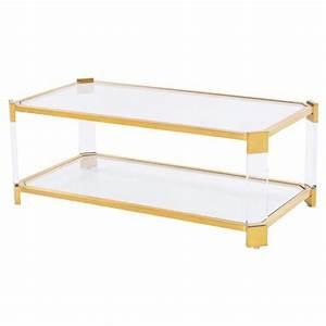 warren angled acrylic gold coffee table kathy kuo home With acrylic and gold coffee table