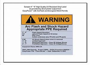 Arc flash label for How to read arc flash labels
