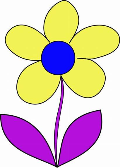 Flower Clip Simple Clipart Cliparts Wheel زهره