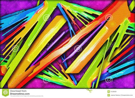 vivid color abstract painting stock photo image 3129500