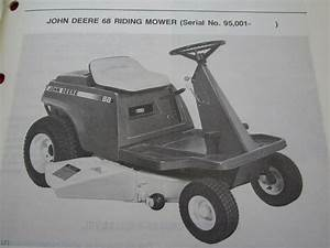 Vintage Original John Deere 68 Riding Lawn Mower Operators
